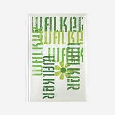 Green Fitness Walker Rectangle Magnet
