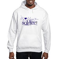 My heart belongs to a Soldier Hoodie