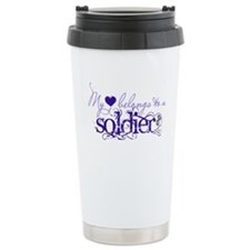 My heart belongs to a Soldier Travel Mug