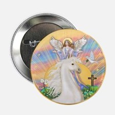 "Blessings/Horse (Ar-W) 2.25"" Button"