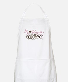 My Heart Belongs to a Soldier BBQ Apron