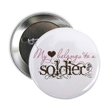"My Heart Belongs to a Soldier 2.25"" Button"