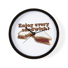 Enjoy Every Sandwich Wall Clock
