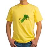 celery stalker, dieter/vegetarian/vegan Yellow T-S