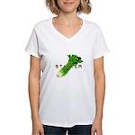 celery stalker, dieter/vegetarian/vegan Women's V-