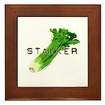celery stalker, dieter/vegetarian/vegan Framed Til