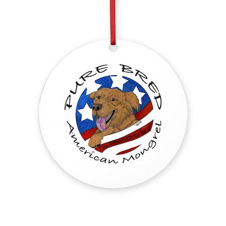 American Mongrel Ornament (Round)