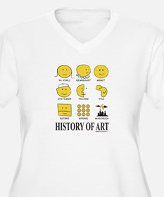 History of Art Smileys Plus Size T-Shirt