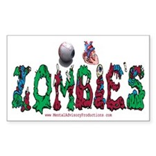 Eye Heart Zombie's Decal