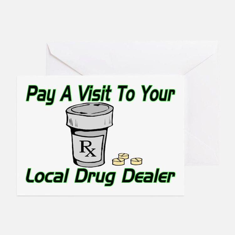 Local Drug Dealer Greeting Cards (Pk of 20)