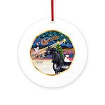 XmasMagic-Black Arabian Horse Ornament (Round)