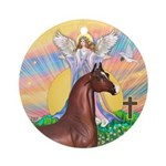 Blessing-Brown Horse (Ar) Ornament (Round)