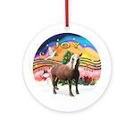 XmasMusic2-Haflinger Horse Ornament (Round)