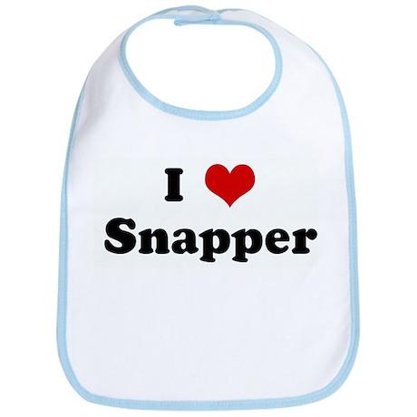 I Love Snapper Bib