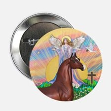 "Blessings/Horse (Ar-Brn) 2.25"" Button"