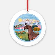 Angel/Horse (Ar-Brn) Ornament (Round)