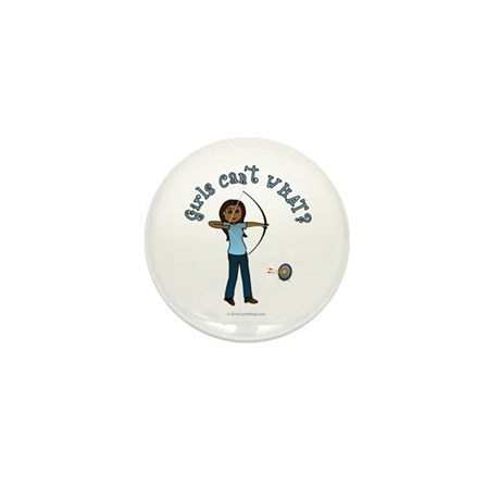 Dark Blue Archery Mini Button