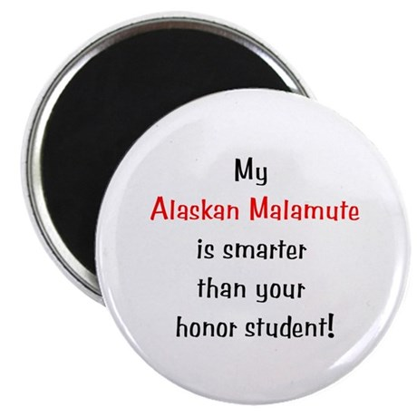 My Alaskan Malamute is smarter... Magnet