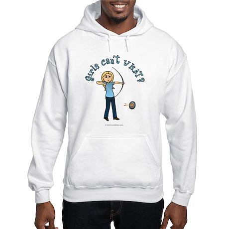 Blonde Blue Archery Hooded Sweatshirt
