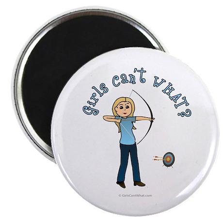 Blonde Blue Archery Magnet