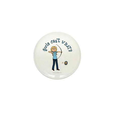 Blonde Blue Archery Mini Button