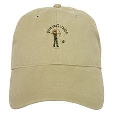 Blonde Camouflage Archery Baseball Cap