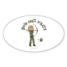 Blonde Camouflage Archery Oval Decal