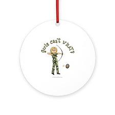 Blonde Camouflage Archery Ornament (Round)