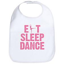 EAT SLEEP DANCE Bib