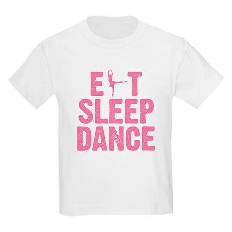 EAT SLEEP DANCE Kids Light T-Shirt