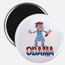 Old Lady Fuck Obama Magnet