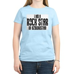 Rock Star In Uzbekistan Women's Pink T-Shirt