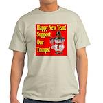 Patriotic Snowman Happy New Y Ash Grey T-Shirt