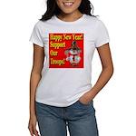 Patriotic Snowman Happy New Y Women's T-Shirt