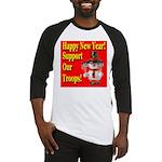 Patriotic Snowman Happy New Y Baseball Jersey