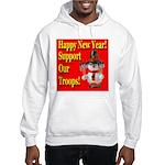 Patriotic Snowman Happy New Y Hooded Sweatshirt