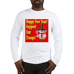 Patriotic Snowman Happy New Y Long Sleeve T-Shirt