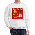 Patriotic Snowman Happy New Y Sweatshirt