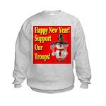Patriotic Snowman Happy New Y Kids Sweatshirt