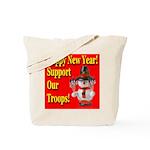 Patriotic Snowman Happy New Y Tote Bag