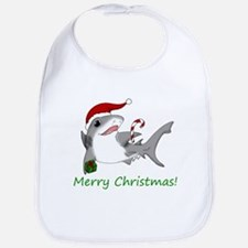 Christmas Shark Bib