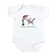 Christmas Shark Infant Bodysuit