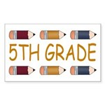 Fun 5th Grade Rectangle Sticker 10 pk)