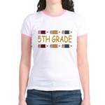 Fun 5th Grade Jr. Ringer T-Shirt