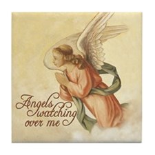 Angels Watching Tile Coaster