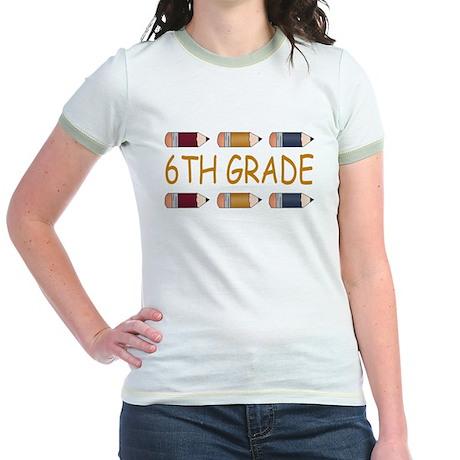 Fun 6th Grade Jr. Ringer T-Shirt