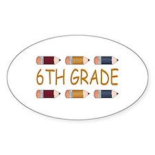 Fun 6th Grade Oval Decal