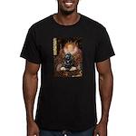 Queen / Cocker Spaniel (blk) Men's Fitted T-Shirt