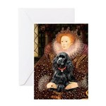 Queen / Cocker Spaniel (blk) Greeting Card
