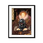 Queen / Cocker Spaniel (blk) Framed Panel Print